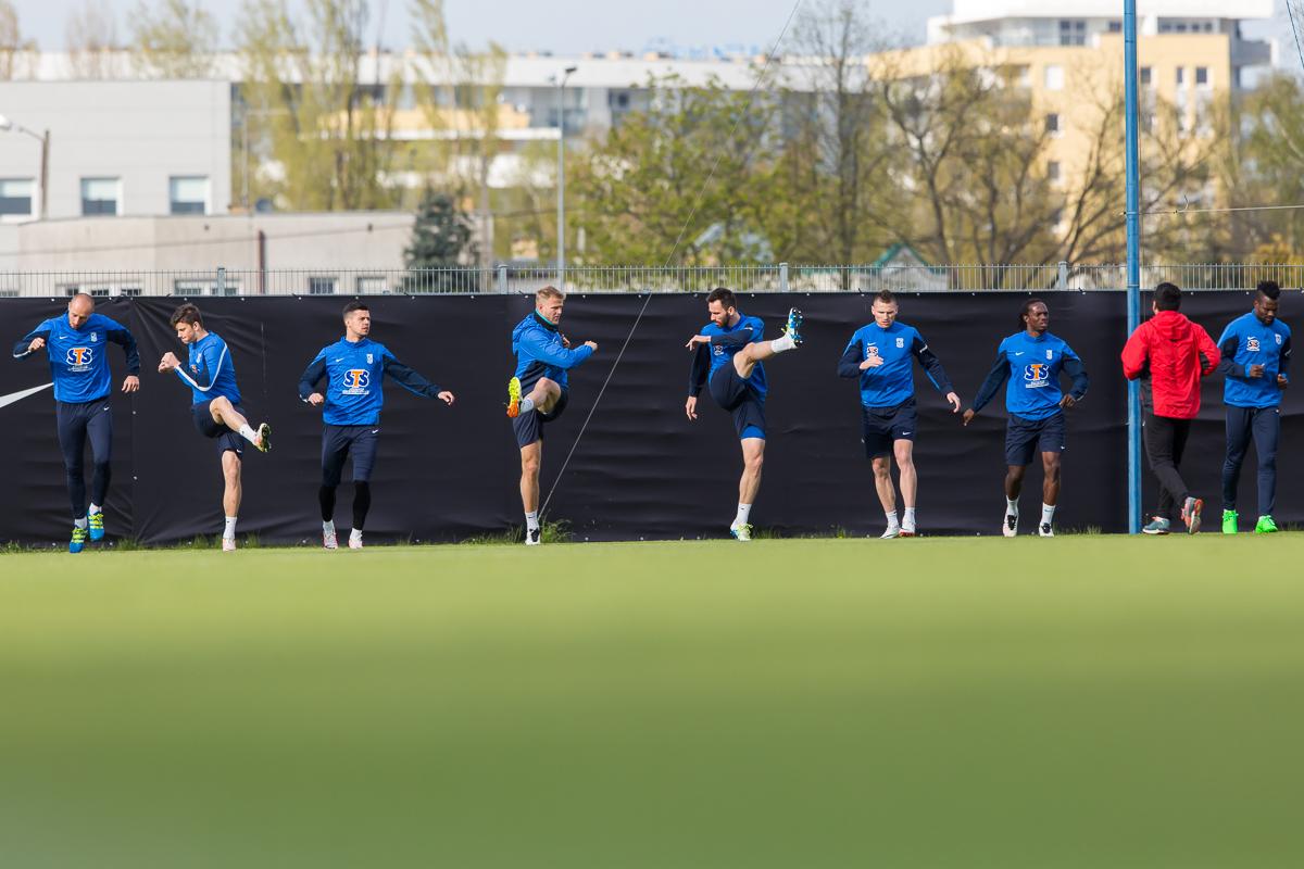 Trening przed meczem z Lechi�