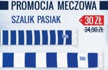 Promocja meczowa: szalik w barwach na �rodowe spotkanie z Wis��